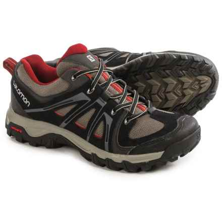 Salomon Evasion Aero Hiking Shoes (For Men) in Black/Swamp/Flea - Closeouts