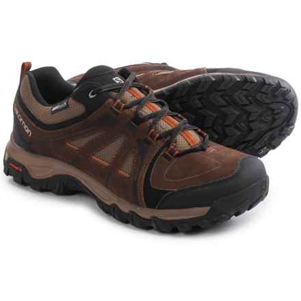 Salomon Evasion Climashield® Hiking Shoes - Waterproof (For Men) in Dark Brown/Burro/Oxide-X - Closeouts