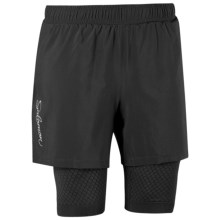 Salomon Exo Motion Shorts - UPF 50+, Inner Shorts (For Women) in Black/Black - Closeouts