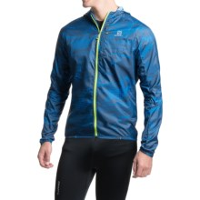 Salomon Fast Wing Graphic Hoodie - UPF 50 (For Men) in Midnight Blue - Closeouts