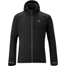 Salomon Fast Wing Hooded Jacket (For Men) in Black - Closeouts