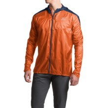 Salomon Fast Wing Hoodie - UPF 50 (For Men) in Clementine-X/Midnight Blue - Closeouts