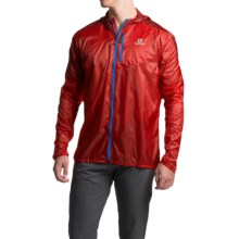 Salomon Fast Wing Hoodie - UPF 50 (For Men) in Matador-X/Victory Red - Closeouts