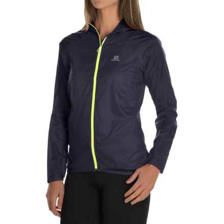 Salomon Fast Wing Hoodie - UPF 50 (For Women) in Nightshade Grey - Closeouts