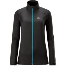Salomon Fast Wing Jacket - Lightweight (For Women) in Black - Closeouts