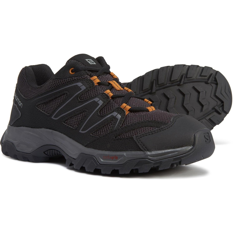 Salomon Men Navy & Black Tsingy Gtx Leather Walking Shoes