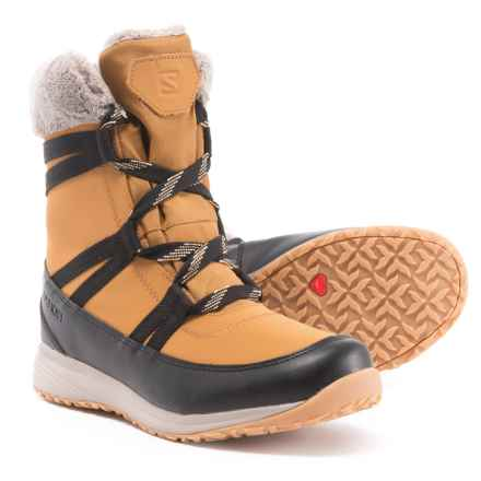 Salomon Heika LTR CS Winter Boots - Waterproof, Insulated (For Women) in Camel Gold/Black/Vint - Closeouts