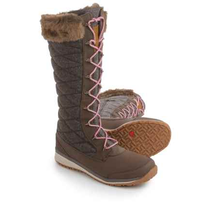 Salomon Hime High Winter Boots (For Women) in Absolute Brown-X/Absolute Brown-X/Light Grey - Closeouts