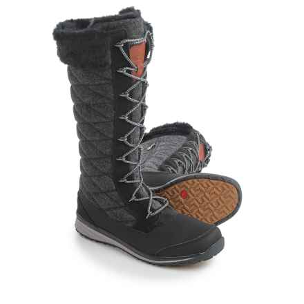 Salomon Hime High Winter Boots (For Women) in Black/Asphalt/Pewter - Closeouts