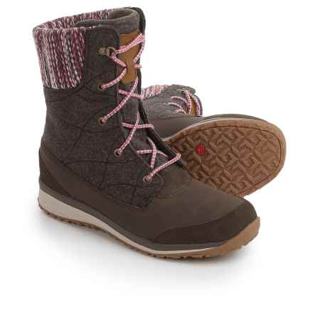 Salomon Hime Mid Winter Boots - Waterproof, Insulated (For Women) in Absolute Brown-X/Absolute Brown-X/Light Grey - Closeouts