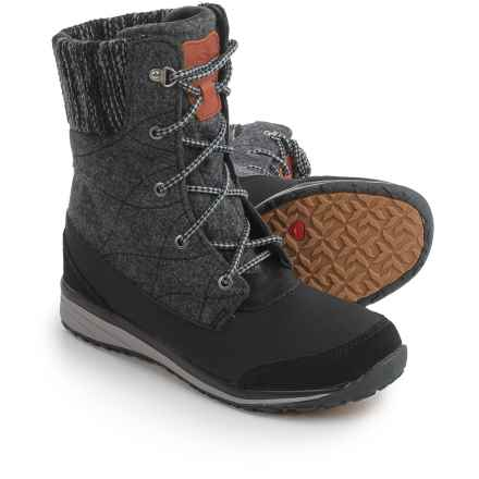 Salomon Hime Mid Winter Boots - Waterproof, Insulated (For Women) in Black/Asphalt/Pewter - Closeouts
