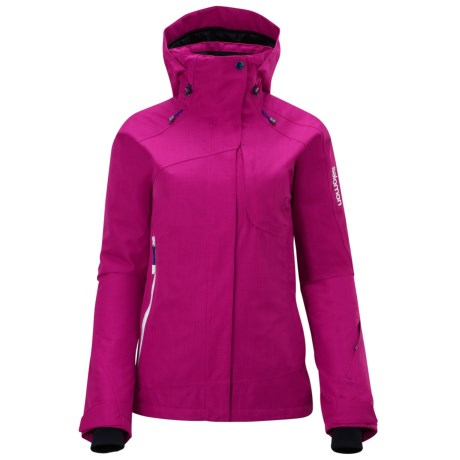 Salomon Intuition Jacket - Waterproof (For Women) in Fancy Pink