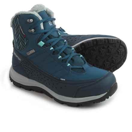 Salomon Kaina 2 Mid Climashield® Winter Boots - Waterproof, Insulated (For Women) in Deep Blue/Slateblue/Bubble Blue - Closeouts