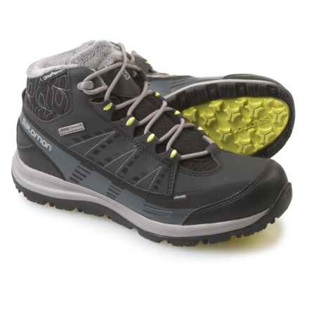 Salomon Kaina CS Winter Boots - Waterproof, Insulated (For Women) in Black/Asphalt/Flash - Closeouts