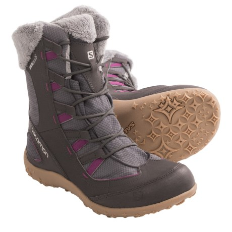 Salomon Leone TS CC Winter Boots - Waterproof (For Women) in Detroit/Autobahn/Pink