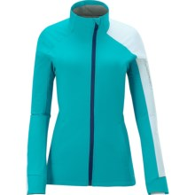 Salomon Momentum 3 Soft Shell Jacket (For Women) in Bay Blue/White - Closeouts