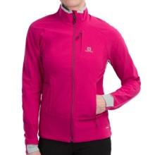Salomon Momentum Soft Shell Jacket (For Women) in Daisy Pink/Light Onix - Closeouts