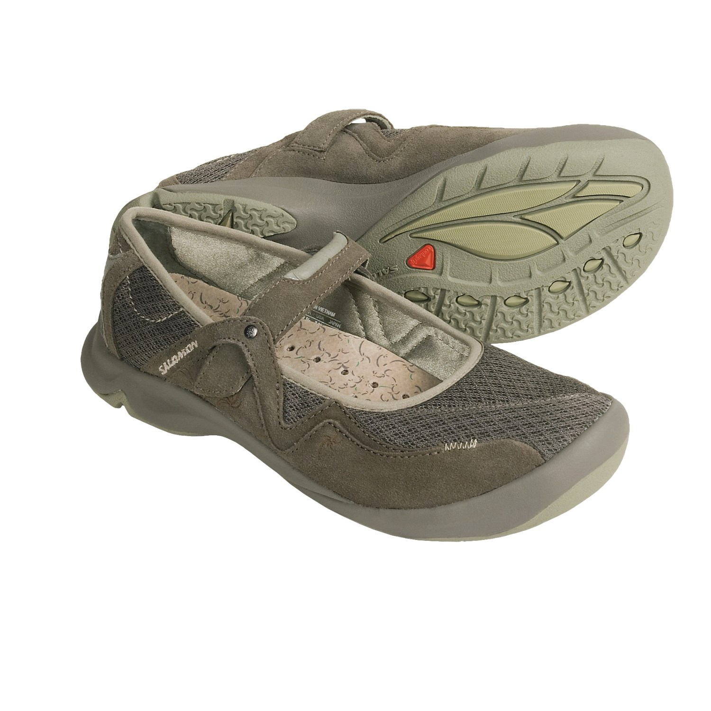 Salomon Muse Mesh Mary Jane Shoes (For Women) in Swamp/Dark Titan