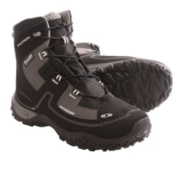 Salomon North TS Snow Boots - Waterproof, Insulated (For Men) in Black/Autobahn/Grey
