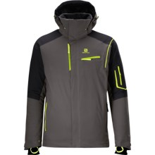 Salomon Odysee Gore-Tex® Jacket - Waterproof, Insulated (For Men) in Autobahn/Black - Closeouts