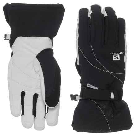 Salomon Propeller Dry Gloves - Waterproof, Insulated (For Women) in Black/White - Closeouts