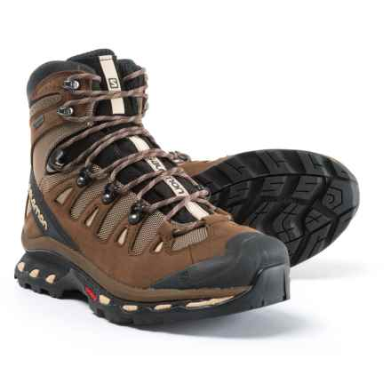Salomon Quest 4D 2 Gore-Tex® Hiking Boots - Waterproof, Nubuck (For Men) in Fossil/Rain Drum/Humus - Closeouts