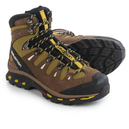 Salomon Quest 4D 2 Gore-Tex® Hiking Boots - Waterproof, Nubuck (For Men) in Maize/Burro/Light Grey - Closeouts