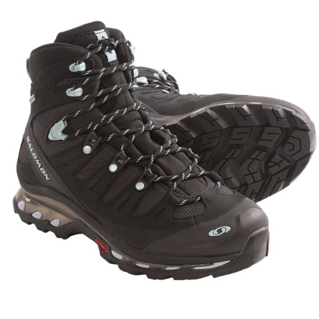 Salomon Quest 4D Gore-Tex® Hiking Boots - Waterproof (For Women) in Black/Black/Blue