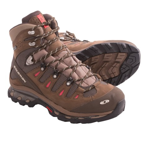 Salomon Quest 4D Gore-Tex® Hiking Boots - Waterproof (For Women) in Shrew/Burro/Papaya