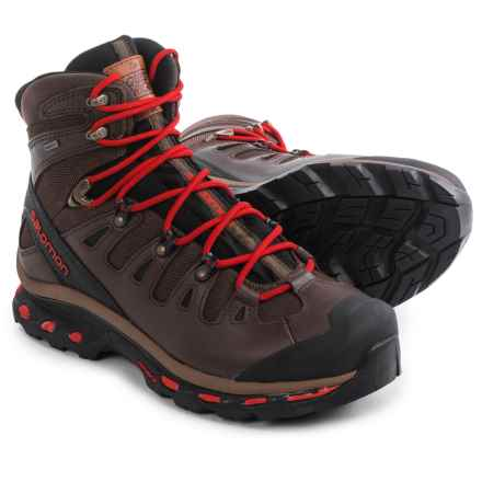 Salomon Quest Origins Gore-Tex® Hiking Boots - Waterproof (For Men) in Absolute Brown-X/Black/Quick - Closeouts
