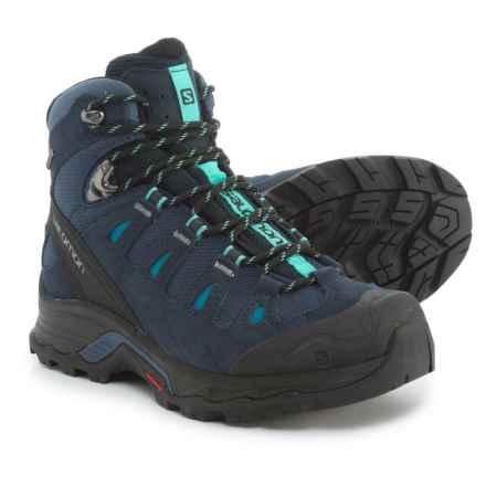 Salomon Quest Prime Gore-Tex® Hiking Boots - Waterproof, Suede (For Women) in Slateblue/Deep Blue/Bubble Blue - Closeouts