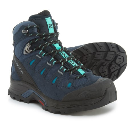 Salomon Quest Prime Gore-Tex® Hiking Boots - Waterproof, Suede (For Women) in Slateblue/Deep Blue/Bubble Blue