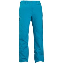Salomon Response Pants - Waterproof, Insulated (For Women) in Boss Blue - Closeouts
