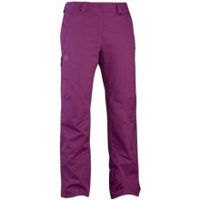 Salomon Response Pants - Waterproof, Insulated (For Women) in Wild Berry - Closeouts