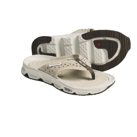 Salomon RX Break Flip-Flop Sandals - Leather (For Women) in Grey/Sand