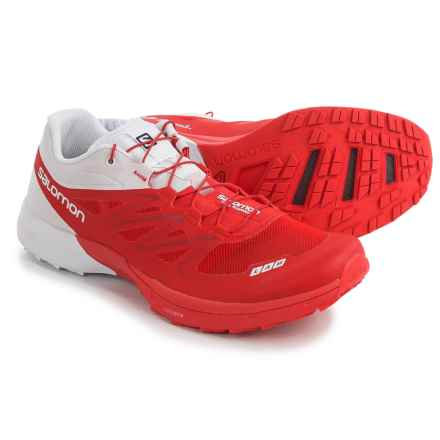 Salomon S-Lab Sense 5 Ultra Trail Running Shoes (For Men) in Red/White/Red - Closeouts