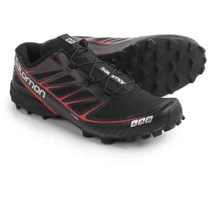 Salomon S-Lab Speed Trail Running Shoes (For Men and Women) in Black/Black/Racing Red - Closeouts