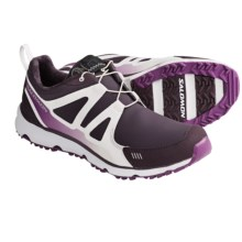 Salomon S Wind CS Trail Running Shoes - Waterproof (For Women) in Dark Plum/White/Very Purple - Closeouts