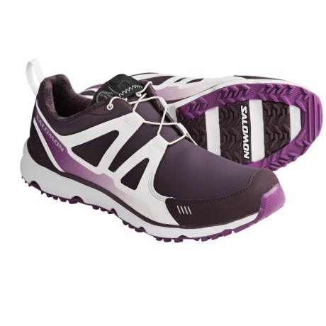 Salomon S Wind CS Trail Running Shoes - Waterproof (For Women) in Dark Plum/White/Very Purple