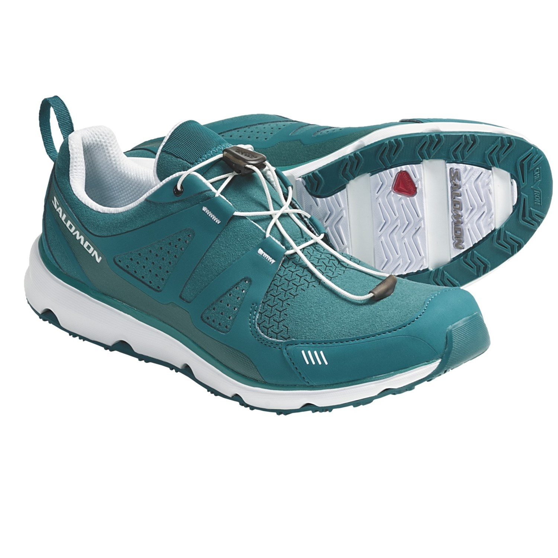 Salomon S-Wind Inca Athletic Shoes (For Women) in Dark Bay Blue/White
