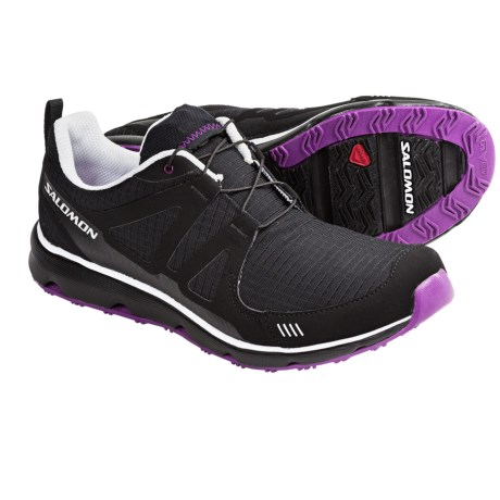 Salomon S Wind Trail Running Shoes (For Women) in Black/White/Very Purple