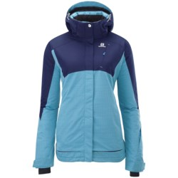 Salomon Sashay Jacket - Waterproof, Insulated (For Women) in Score Blue/Wizard Violet