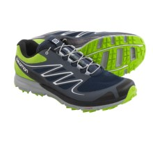 Salomon Sense Mantra 2 Trail Running Shoes (For Men) in Granny Green/Grey Denim/Deep Blue - Closeouts