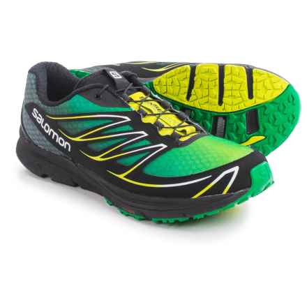 Salomon Sense Mantra 3 Trail Running Shoes (For Men) in Fern Green/Black/Gecko Green - Closeouts