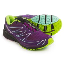Salomon Sense Mantra 3 Trail Running Shoes (For Women) in Passion Purple/Cosmic Purple/Granny Green - Closeouts