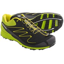Salomon Sense Mantra Trail Running Shoes (For Men) in Black/Green/Yellow - Closeouts
