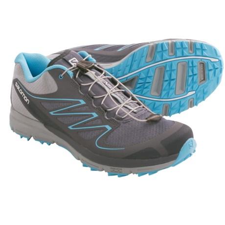 Salomon Sense Mantra Trail Running Shoes (For Women) in Dark Cloud/Onix/Blue