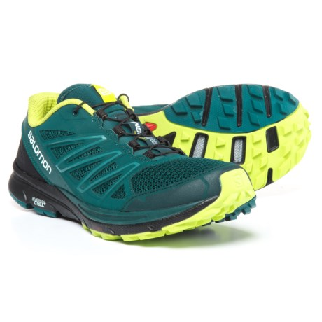 Salomon Sense Marin Trail Running Shoes (For Men) in Reflecting Pond/Black/Lime Punch