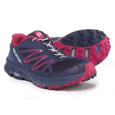 Salomon Sense Marin Trail Running Shoes (For Women) in Astral Aura/Crown Blue/Sangria - Closeouts