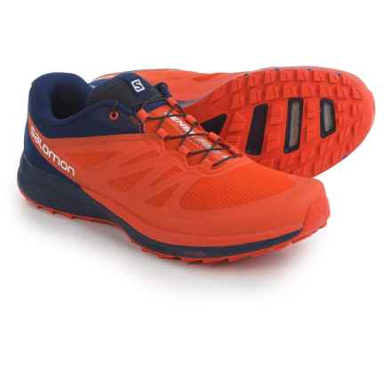 Salomon Sense Pro 2 Trail Running Shoes (For Men) in Tomato Red/Black/Navy - Closeouts